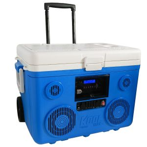 KoolMAX Ultimate Cooler, Bluetooth Audio System, and Power Station (Blue)