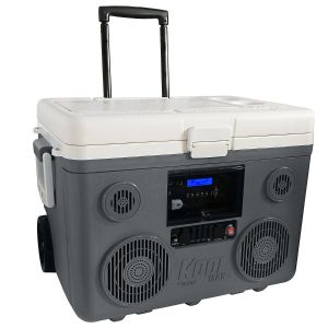KoolMAX Ultimate Cooler, Bluetooth Audio System, and Power Station (Gray)