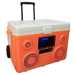 KoolMAX Ultimate Cooler, Bluetooth Audio System, and Power Station (Orange)