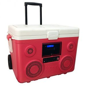 KoolMAX Ultimate Cooler, Bluetooth Audio System, and Power Station (Red)